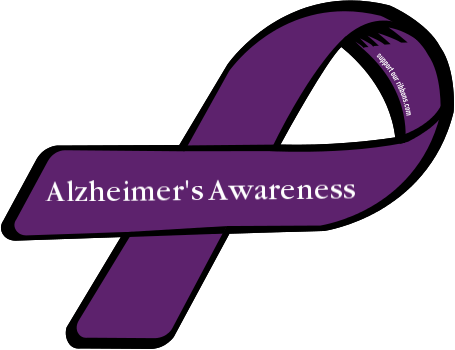 48750 custom ribbon magnet sticker AlzheimersAwareness