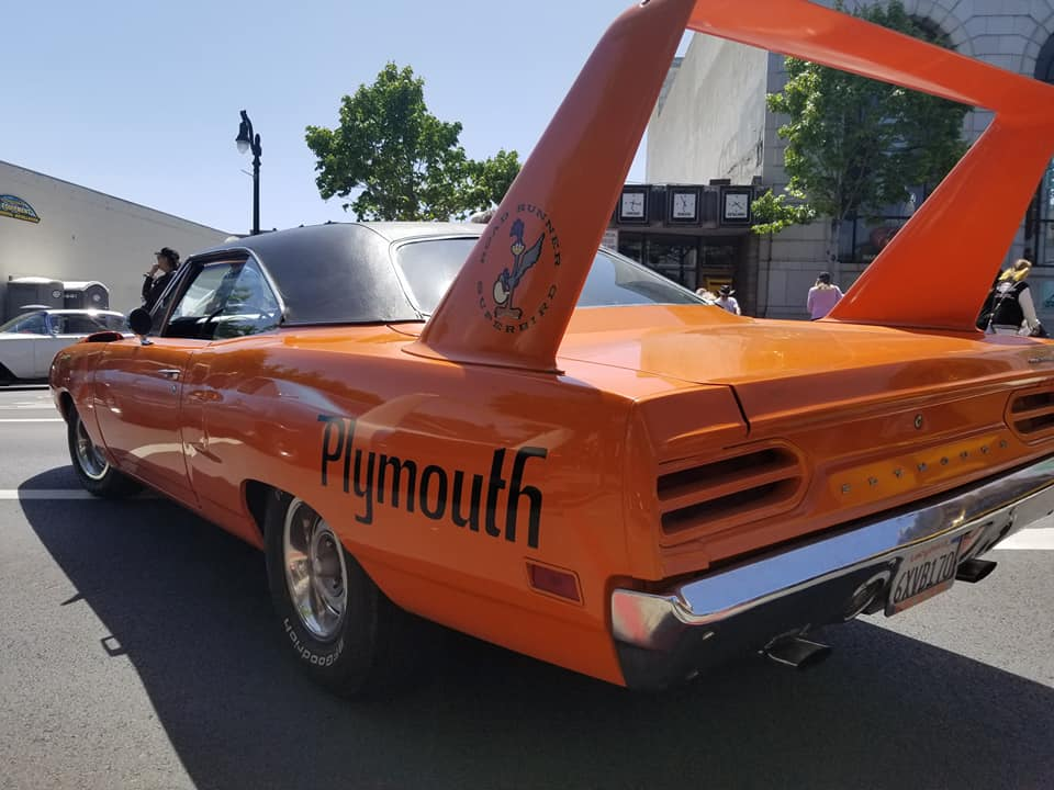 Congratulations to Nicol & Jason Grossman of Santa Rosa and their beautiful 1970 Plymouth Superbird.