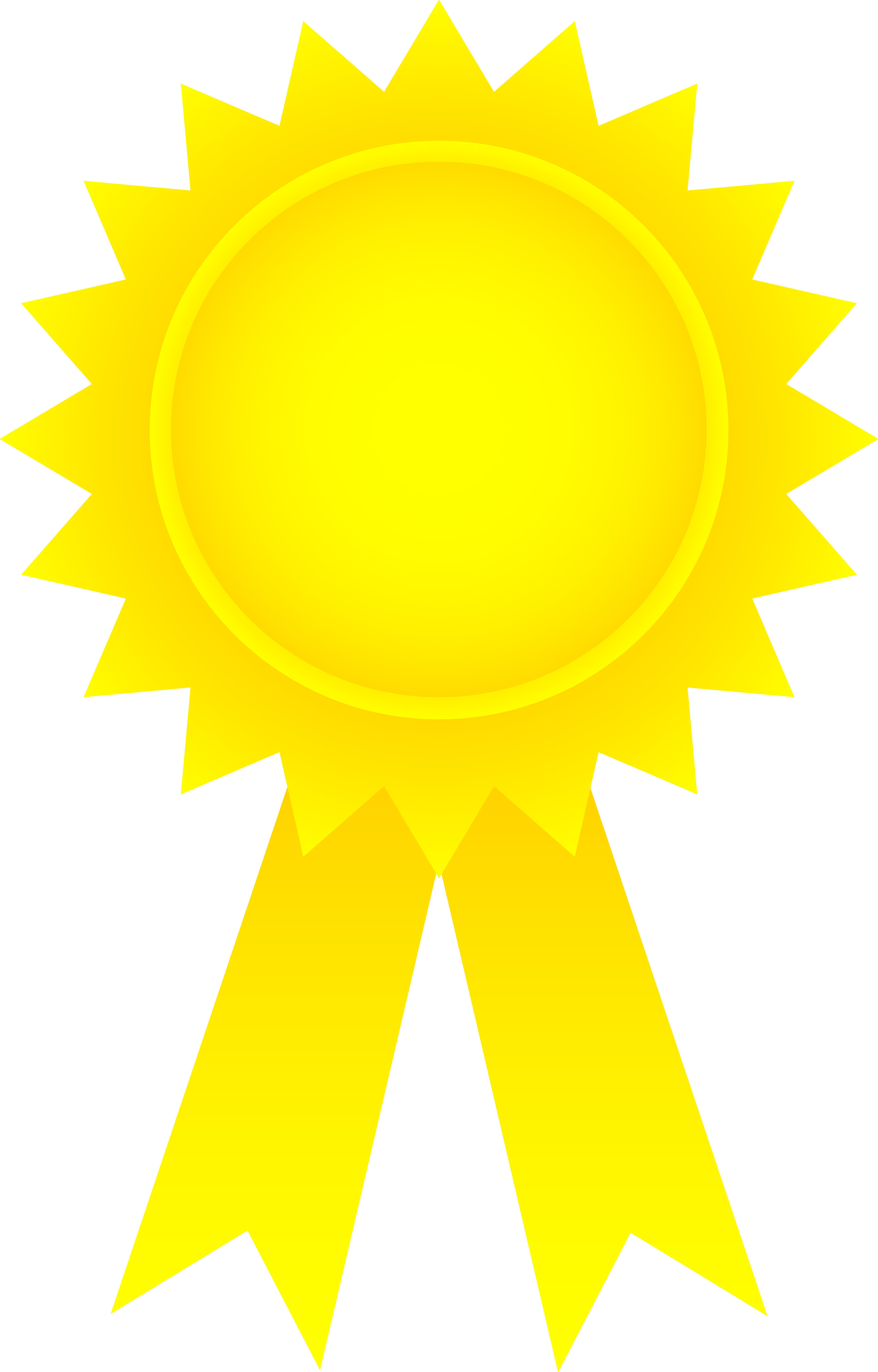 award ribbon gold