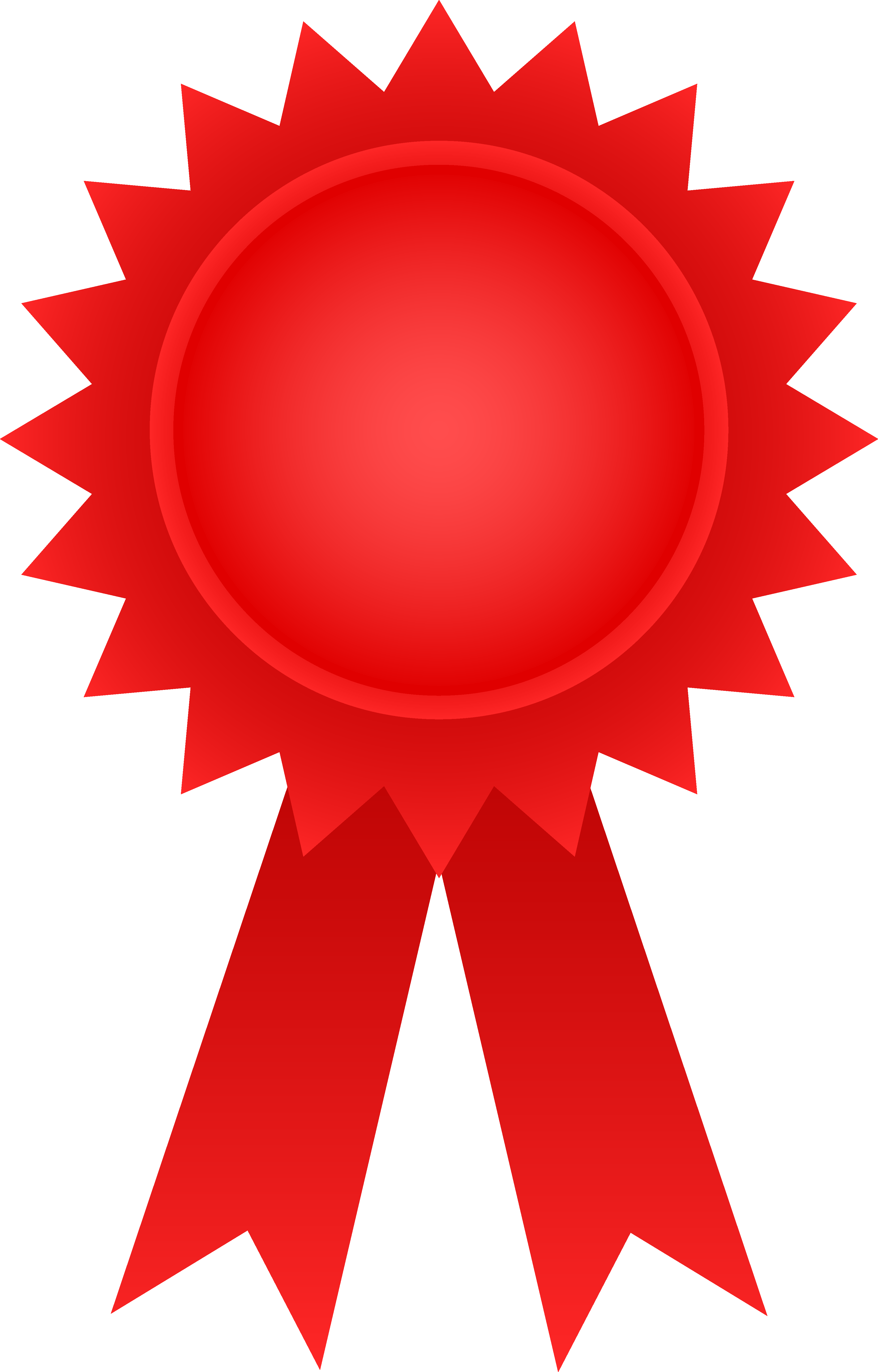 award ribbon red